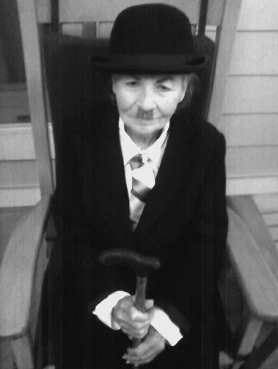 charlie chaplin elderly woman halloween costume