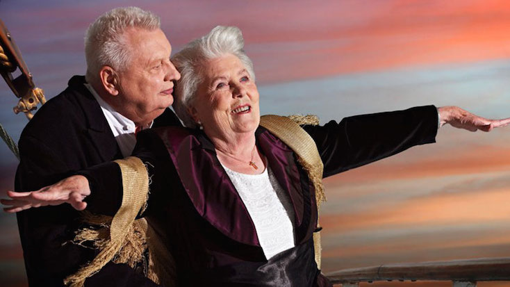 jack and rose titanic elderly couple halloween costume