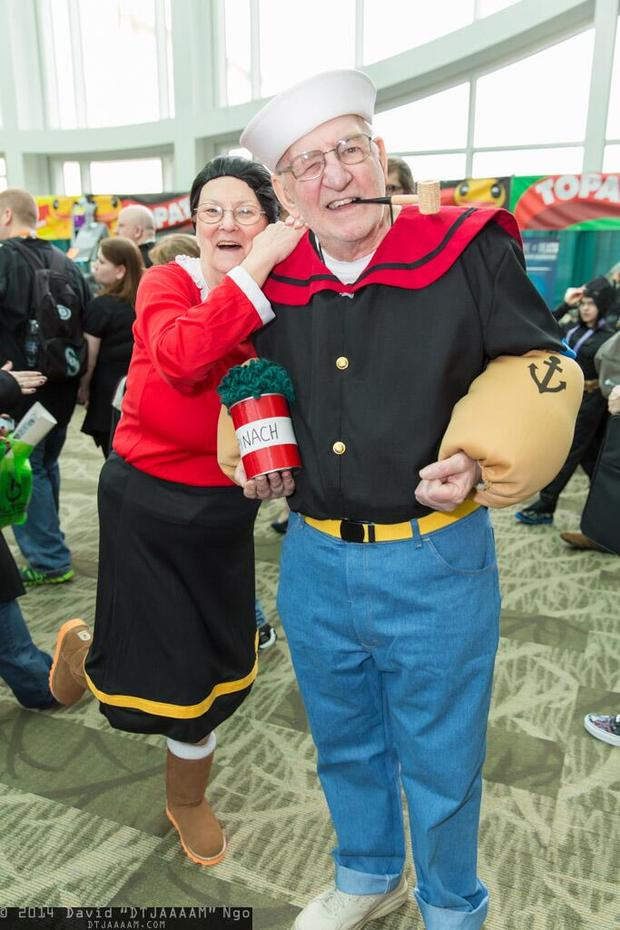 popeye and olive oyl elderly couple halloween costume